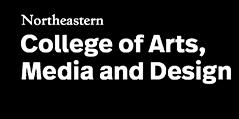 Northeastern University College of Arts, Media and Design Logo